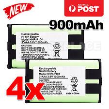 Premium J 4x Cordless Phone Battery 900mAh for Panasonic HHR-P104 Ni-MH 3.6V