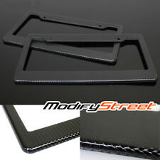 2 x JDM CARBON FIBER PAINTED LICENSE PLATE FRAME US/CANADA SIZE COVER FRONT/REAR