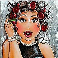 5D Full drill Diamond Painting Cartoon Curly hair Girl Fashion Handicraft 6994M