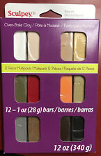 Sculpey III Oven-Bake Polymer Clay 12 Piece Multipack In Naturals 12 Oz New