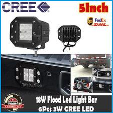 5INCH 18W LED FLUSH MOUNT LIGHT BAR FLOOD DRIVING OFFROAD FOG 4WD LAMP PARK 30W