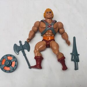 Vintage 1981 MOTU Masters of the Universe He-Man Action Figure Complete