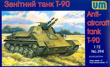 UM 1/72 394 WWII Soviet Red Army T-90 Anti-Aircraft Tank