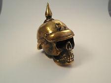 Harley Shift knob German Skull brass handmade, hot rod, harley,hood ornament
