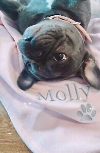 Personalised Dog Cat Blanket,Pet Blanket, High Quality Fleece, Paw Design Custom