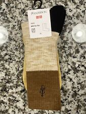 Uniqlo Jw Anderson Socks Brown And Gold