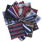 Lot 15 PCS Men's Handkerchief Polyester Pocket Square Striped Plaid Suit Hankies