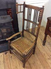 Arts and Crafts Bobbin Turner's Chair Nursing Elbow Gimson Ash Fireside Morris
