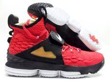 5be2a3cc67a015 Nike Lebron XV Prime Turf University Red White Black Gold Ao9144 600 Size 9