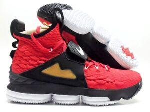 lebron 15 black red