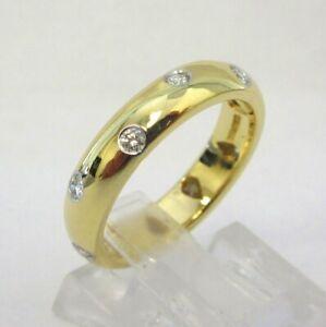 TIFFANY & Co. 18K Gold Platinum Diamond Etoile Band Ring 5 $2,600