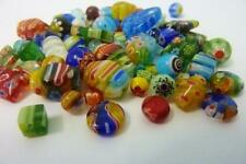 80 pce Mix Vibrant Millefiori Glass Beads 4mm - 16mm Jewellery Making Craft