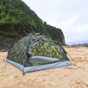 4 Season 2 Person Camping Tent Windproof Camouflage Hiking Outdoor Tent