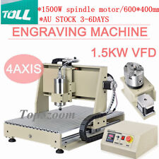 USB 4Axis CNC 6040 Router Engraver Engraving Drill Carving Machine DESKTOP 1.5KW
