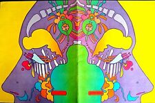 PETER MAX BOOK COVER PSYCHEDELIC FACE  - VERY LARGE - ORIGINAL 60'S - 70'S