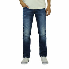 Mens Jeans Crosshatch Svelte Slim Leg Soft Stretch Denim Pants