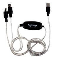 MIDI USB Entrada-Salida Cable de interfaz Cable de Convertidor Adaptador de F4G3