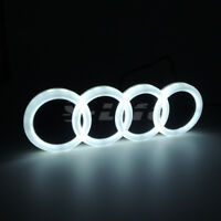 Illuminated 4D Car White Tail Rear Logo LED Badge Emblem Lights Fits Audi A3 Q5