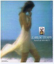 PUBLICITE ADVERTISING 104 1978 NINA RICCI Air du temps David Hamilton