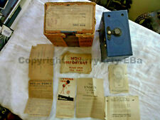 ENSIGN E29 1930'S BOX FILM CAMERA WITH ORIGINAL DOCUMENTS BEAUTIFUL CONDITION