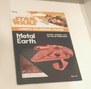 New Metal Earth Star Wars Lando's Millennium Falcon Red