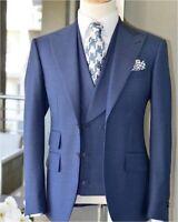 2019 Latest Design Light Blue Men Suit Slim Fit 3Piece Tuxedo Wedding Groom Suit