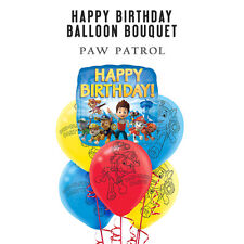 Party Supplies Boys Decorations Paw Patrol Happy Birthday Foil Bouquet Balloons