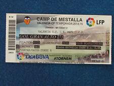 Valencia v Real Madrid - 2014/15 - Billete