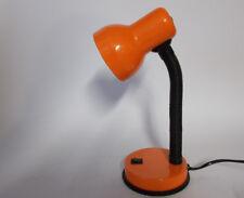 lampada  stile retrò 70 80 orientabile scrivania lampada tavolo arancione