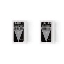 10 Feather Stainless platinum razor blades (Blk) Sealed Packs! USA Seller!