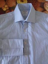 """T M LEWIN 'Royal' Men's Blue H'bone Formal Shirt 16"""" 41cm D/C Classic Fit Cotton"""