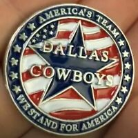 "Dallas Cowboys Golf Ball Marker, Magnetic, ""America's Team-We Stand For America"""