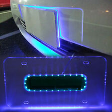 TWO DNA MOTORING FRONT//REAR US//CANADA STANDARD BLUE PLASTIC LICENSE PLATE FRAMES