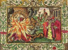 Monogrammist MT-les trois hommes dans de braise Four-Kolor. Gravure sur bois 1560