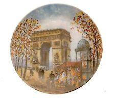Limoges L Arc De Triomphe La Ville De Paris Par Louis Dali Plate JR22