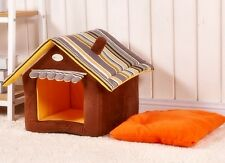 Portable Dog House Folding Chihuahua Doghouse Indoor Kennel Soft Warm CUTE NEW