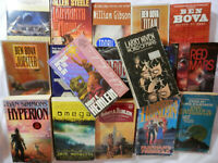 Ben Bova, Allen Steele, Heinlein, Dan Simmons, etc., Sci-Fi Book Lot - 17 Books