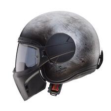 Casco Helmet Jet Ghost Iron con Maschera Rimovibile in Fibra Caberg Size M