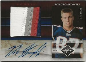 2010 Limited Rob Gronkowski RPA Auto Patch RC 01/25 Tampa Bay Buccaneers