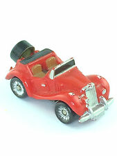 Micro Machines Vehicle Car MG TF 1954 Roadster Convertible T Series Galoob Red
