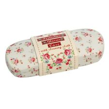 dotcomgiftshop LA PETITE ROSE HARDSHELL GLASSES CASE & PINK CLEANING CLOTH