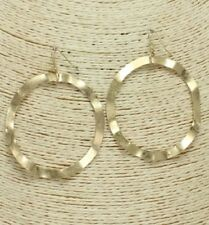 Large Gold Wavy FASHION Hoop Earrings