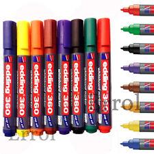 Edding 360 Bullet Tip 1.5mm - 3mm Whiteboard Pen. Pack of 8. 1ST CLASS POST