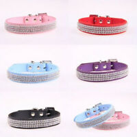 Sn _ Stylé Bling Animal de Compagnie Chiot Chat Simili Cuir Col Sangle Bande