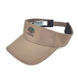 (Princeville) Makai Golf Club Kauai Hawaii Brown Sun Visor Hat Adj. Adult Poly
