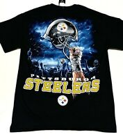 Majestic NFL Pittsburgh Steelers T Shirt Size Medium Graphic Black NEW