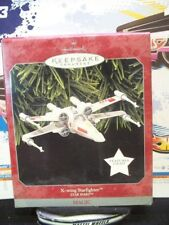 1998 HALLMARK KEEPSAKE STAR WARS ORNAMENT X-WING STARFIGHTER LIGHT NEW 😍😍