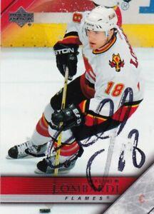 MATTHEW LOMBARDI, CALGARY FLAMES, RARE AUTO'D/SIGNED NHL CARD.