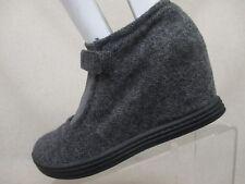 Blowfish Malibu Gray Gradient Wedge Heel Strap Fashion Ankle Booties Size 7.5 M