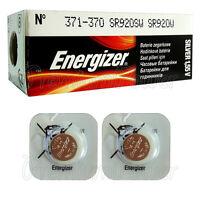 2 x Energizer Silver Oxide 371/370 batteries 1.55V SR69 SR920W Watch